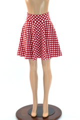 Polka Dot Minnie Skater Skirt - Coquetry Clothing