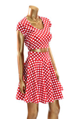 Polka Dot Minnie Skater Skirt & Crop