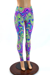 Glow Worm High Waist Leggings - Coquetry Clothing