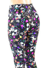 Unicorn and Rainbows High Waist Capri Leggings - Coquetry Clothing