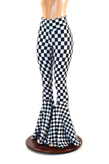 Black & White Checkered Bell Bottoms - Coquetry Clothing