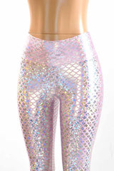 Pink Mermaid High Waist Bell Bottom Flares - Coquetry Clothing