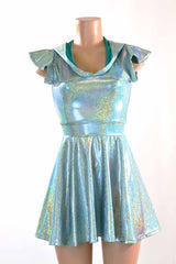 Seafoam & Pink Dragon Skater Dress