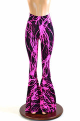 Neon Pink Lightning Bell Bottoms - Coquetry Clothing