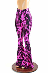 Neon Pink Lightning Bell Bottoms