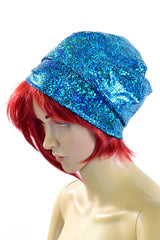 Turquoise Holographic Beanie - Coquetry Clothing