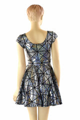 Cracked Tiles Skater Dress - Coquetry Clothing