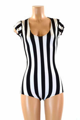 Black & White Striped Romper - Coquetry Clothing