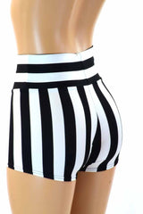 Striped High Waist Shorts - Coquetry Clothing