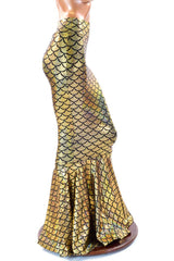 Gold Mermaid High Waist Skirt - Coquetry Clothing