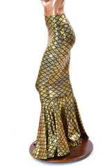 Gold Mermaid High Waist Skirt
