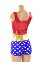 Super Hero Crop & High Waist Shorts - Coquetry Clothing