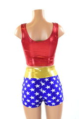 Super Hero Crop & High Waist Shorts
