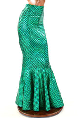 Green Scale High Waist Mermaid Skirt - Coquetry Clothing