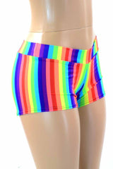 Lowrise Rainbow Stripe Shorts - Coquetry Clothing