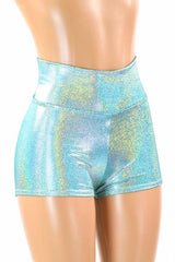 Seafoam High Waist Shorts - Coquetry Clothing