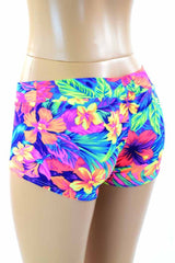Tahitian Floral Lowrise Shorts - Coquetry Clothing