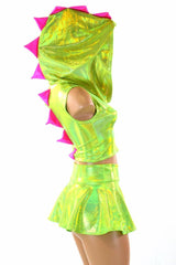 Lime Green Dragon Hoodie & Skirt - Coquetry Clothing