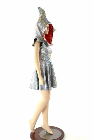 Great White Shark Skater Dress - Coquetry Clothing