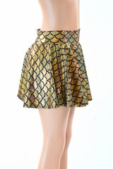 Gold Dragon Scale Rave Skirt - Coquetry Clothing