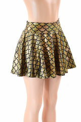 Gold Dragon Scale Rave Skirt