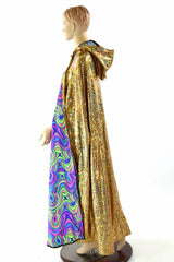 Gold & Glow Worm Reversible Cape - Coquetry Clothing
