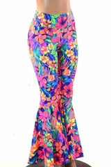 Tahitian Floral Bell Bottoms - Coquetry Clothing
