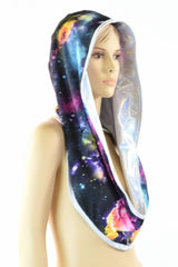Flashbulb & Galaxy Reversible Infinity Festival Hood - Coquetry Clothing