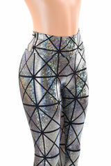 Cracked Tiles High Waist Leggings - Coquetry Clothing