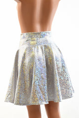 Silver/White Skater Skirt - Coquetry Clothing