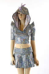 Silver Dragon Hoodie & Skirt Set - Coquetry Clothing