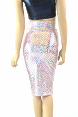 High Waisted Pink Mermaid Pencil Skirt - Coquetry Clothing