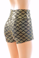 Gold Mermaid High Waist Shorts - Coquetry Clothing