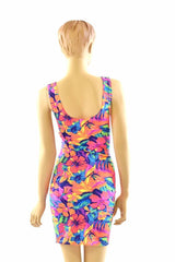 Tahitian Floral Tank Dress - Coquetry Clothing