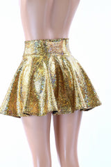 Gold Shattered Glass Rave Skirt