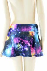 Galaxy Print Mini Skirt