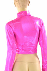 Pink Turtle Neck Crop - Coquetry Clothing