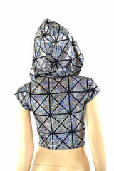 Cracked Tiles Crop Hoodie