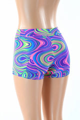 Midrise Neon Glow Worm Shorts - Coquetry Clothing