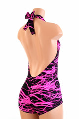 """Josie"" Romper in Pink Lightning - Coquetry Clothing"