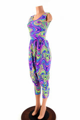 Tank Style Drop Crotch Harem Jumpsuit - Coquetry Clothing