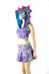 Glow Worm Dragon Crop & Skirt Set