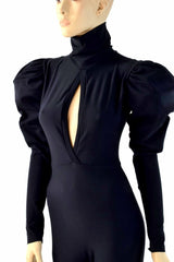 "Puffed Sleeve ""Victoria"" Catsuit - Coquetry Clothing"