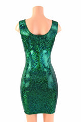 Green Shattered Glass Tank Dress - Coquetry Clothing