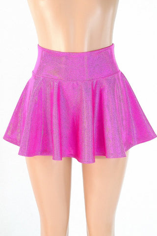 Pink Holographic Rave Skirt - Coquetry Clothing