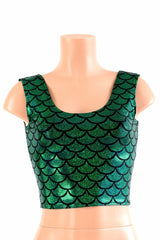 Green Mermaid Tank Crop - Coquetry Clothing