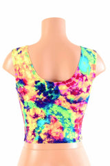 Acid Splash Crop Top - Coquetry Clothing