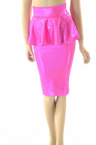 "27""  Peplum Wiggle Skirt - Coquetry Clothing"