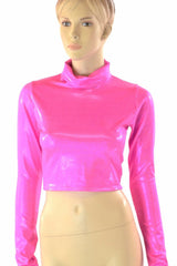 Neon Pink Peplum Skirt & Crop Set