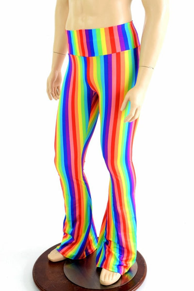 Mens Rainbow Stripe Bootcut Pants Coquetry Clothing